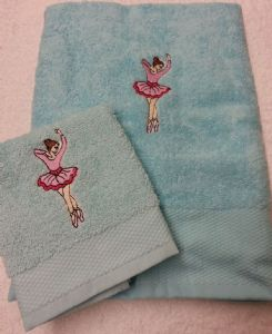 BALLET DANCER PERSONALISED TOWEL SET